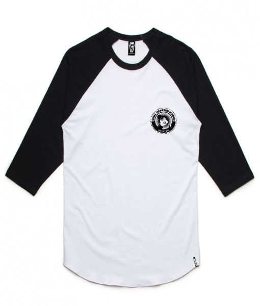 Skelter Clothing Coal Hearted Punks Raglan Front