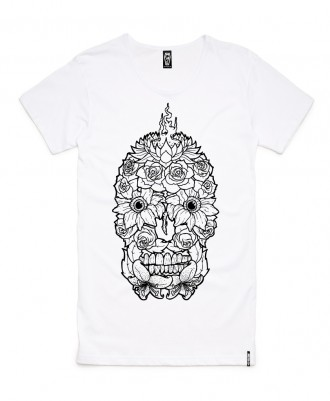 Skelter Clothing Flowerskull Tee